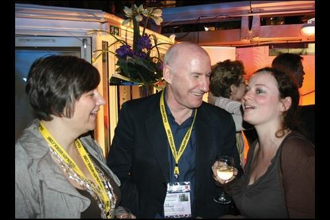 RIBA president Jack Pringle talks to Building's Angela Monaghan (right)